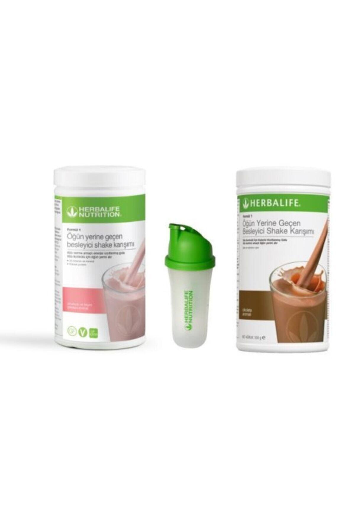 Herbalife Unisex Ahududu Çikolatalı Shake 550 Gr 2shake1shaker 1
