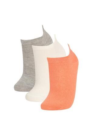 DeFacto Kadın Desenli 3'lü Patik Çorap