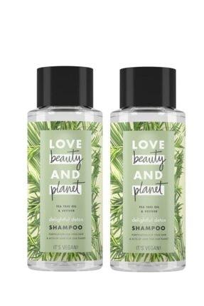 Love Beauty and Planet Çay Ağacı Yağı Ve Vetiver Özlü Şampuan 400 Ml X 2 Adet