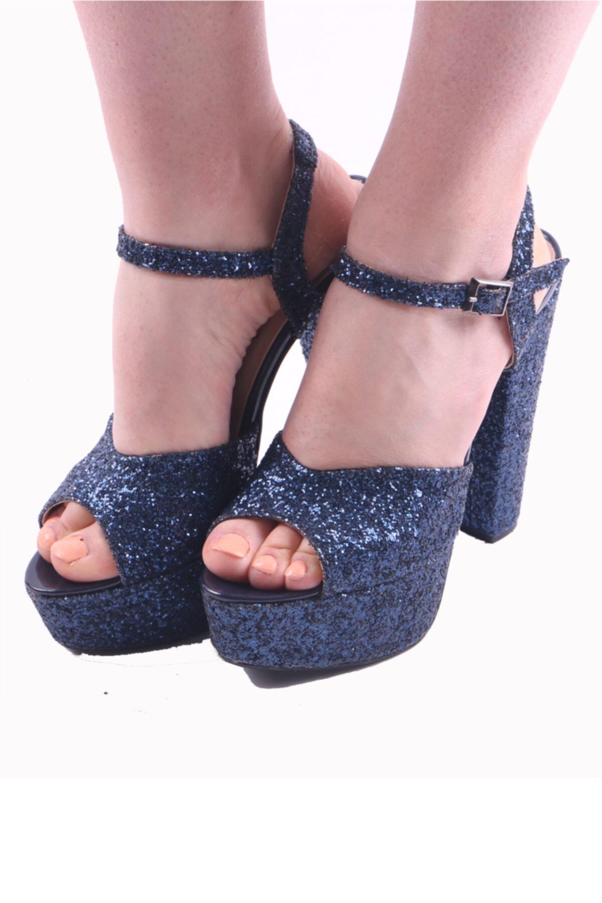 RUBRICA Kadın Lacivert Abiye Ayakkabı 1