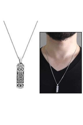 Clover Silver Design Nalı Şerif Işlemeli Gümüş Cevşen Kolye  925 Ayar