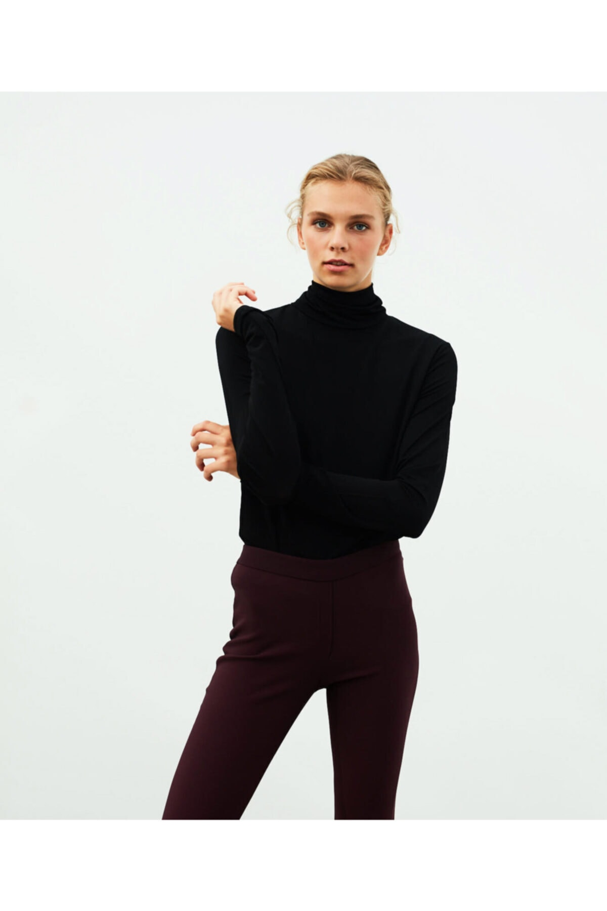 İpekyol Kadın Kırmızı Skinny Fit Pantolon 1