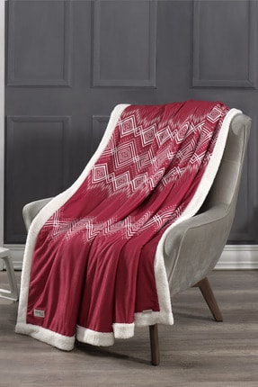 DENIZLI CONCEPT Anatolia Kırmızı Wellsoft Battaniye 170x200 cm