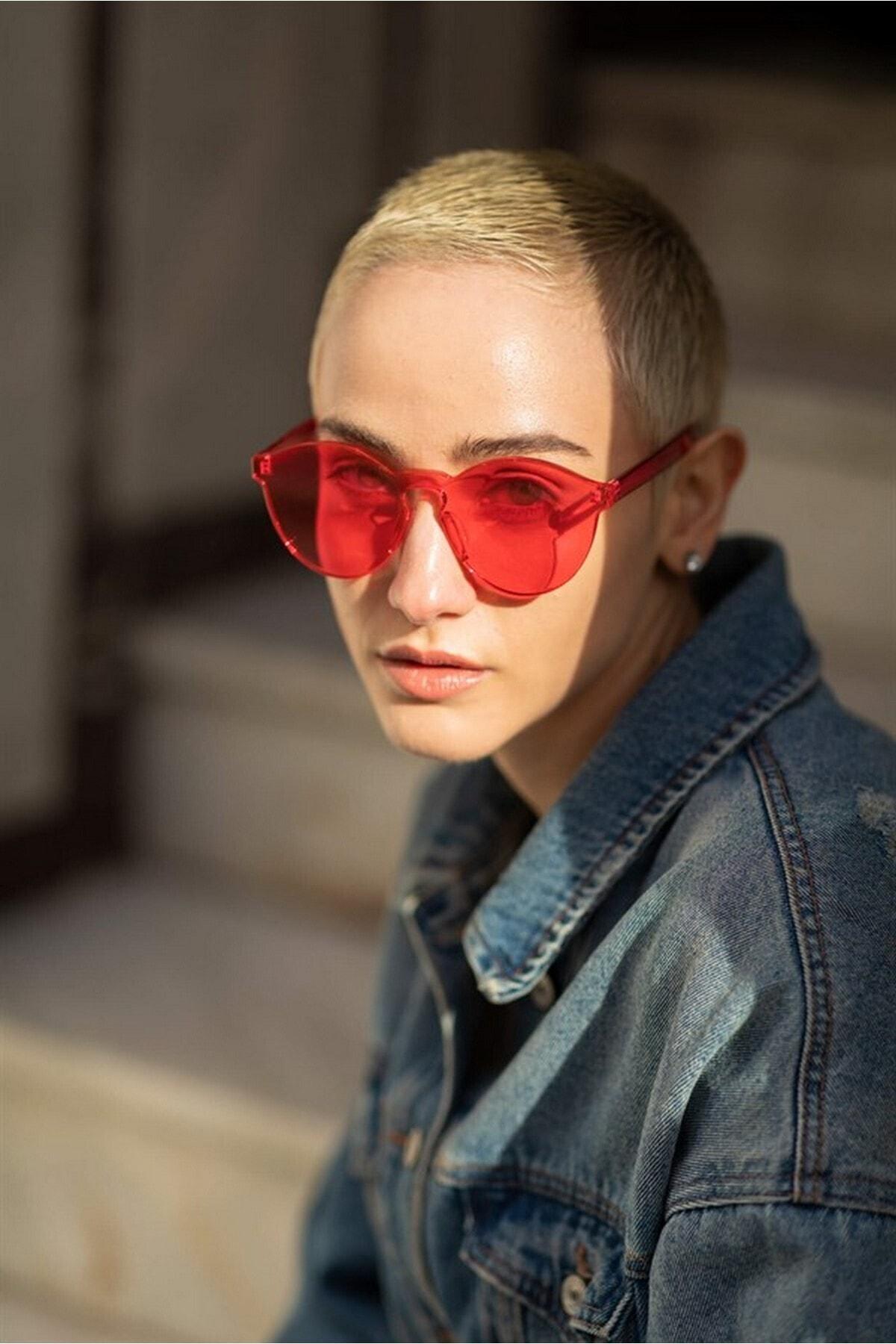 Bilge Karga Kadın Turuncu Candy Pink Güneş Gözlüğü 1