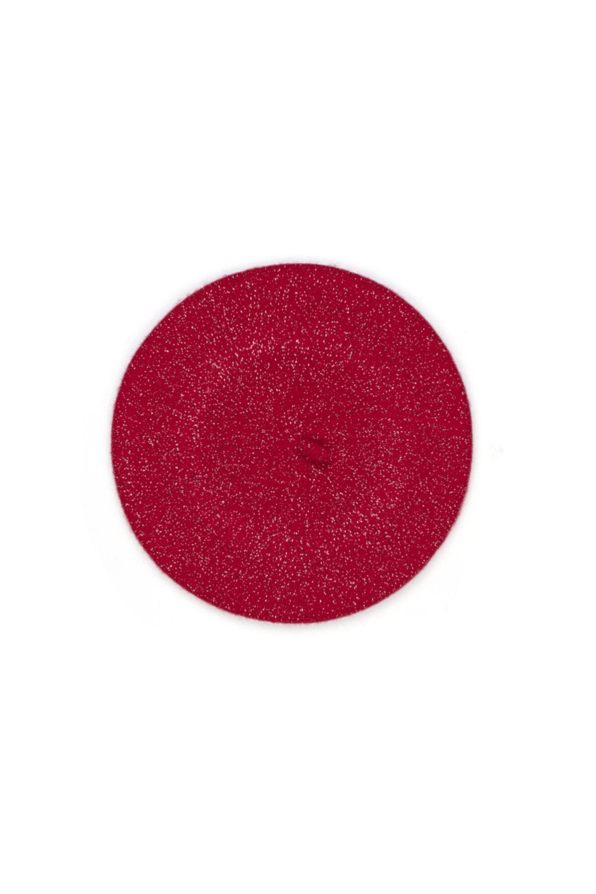 Mavi Simli Kırmızı Ressam Şapka 1