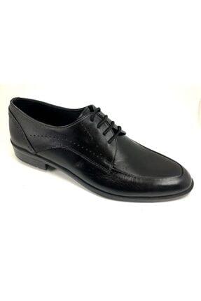 Güneş Erkek Siyah Bağlı Klasik Deri Ayakkabısı