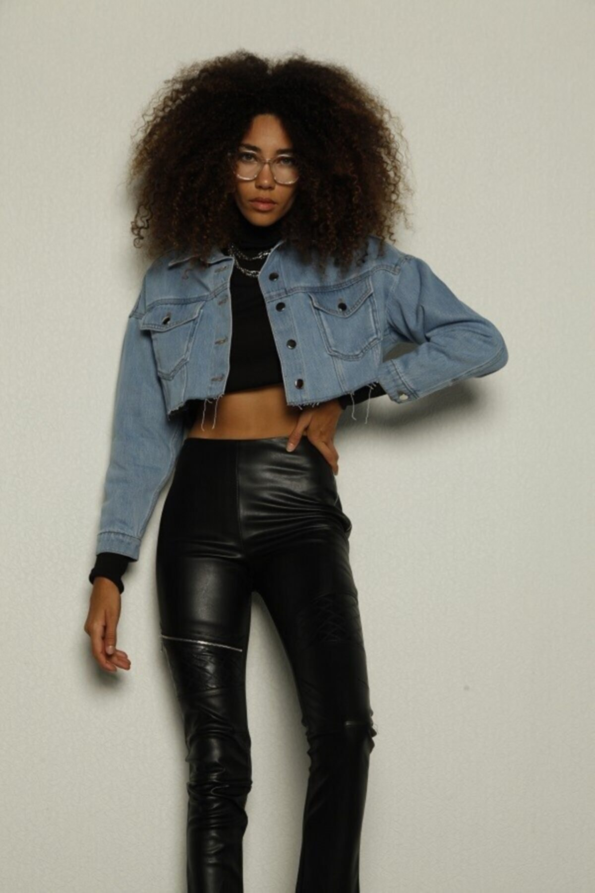 HOLLY LOLLY Kadın Siyah Focus Pantolon 1