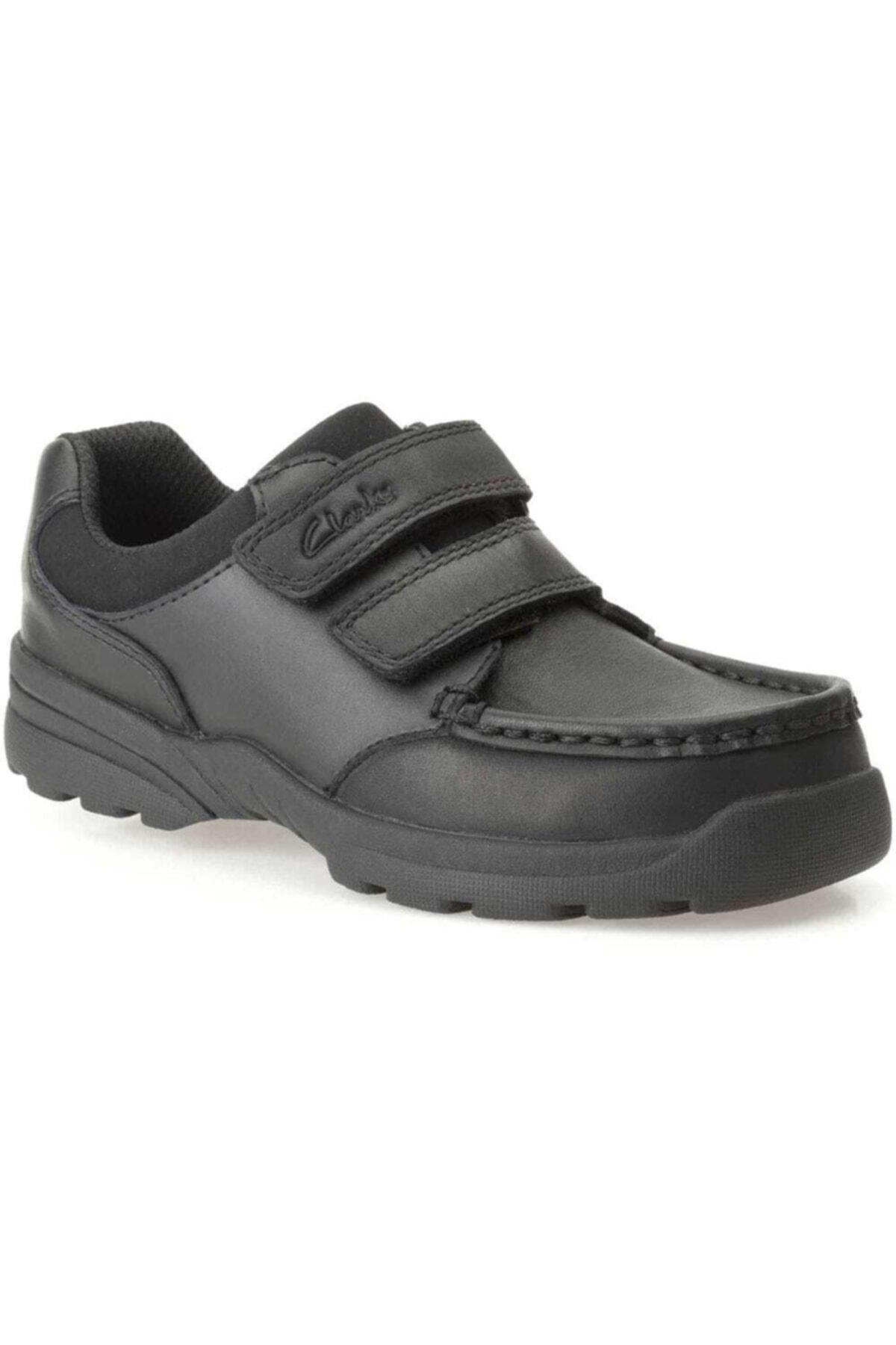 CLARKS Erkek Çocuk Siyah Deri Ayakkabı 1