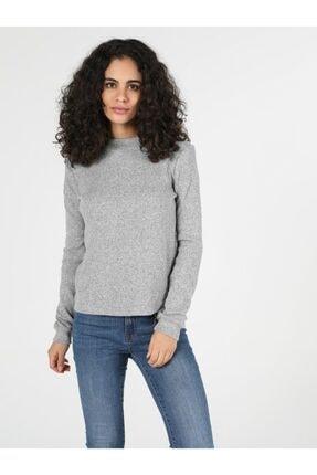 Colin's Kadın Gri Uzun Kol Tişört
