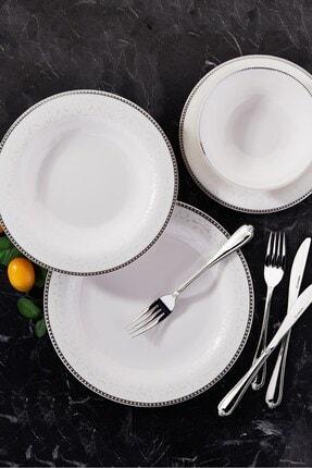 KORKMAZ Queen Collection 58 Parça Yuvarlak Yemek Takımı