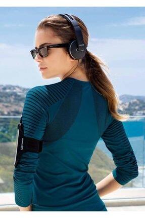 Yeni İnci Kadın Petrol Uzun Kollu Sporcu T-shırt