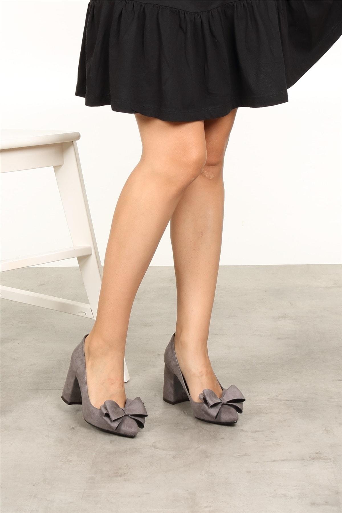 Mio Gusto Liz Gri Fiyonklu Ayakkabı 2