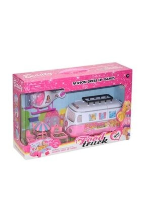 ERKOL OYUNCAK Barbie Beauty Mini Karavan Ve Mini Helikopterli Araç Seti