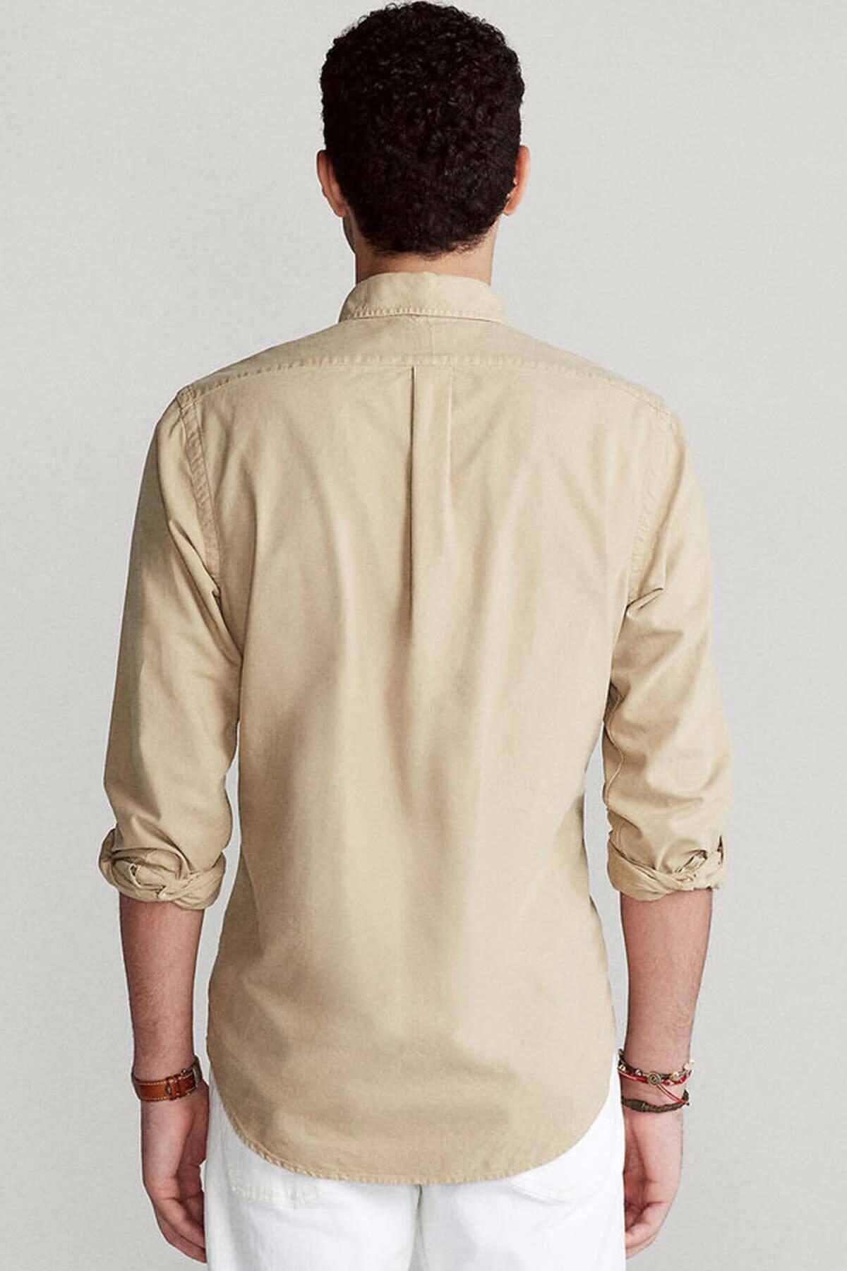 Polo Ralph Lauren Erkek Camel Slim Fit Oxford Gömlek 2