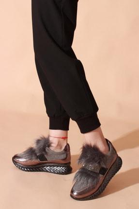 ROVIGO Kadın Platin Taşlı Spor Ayakkabı