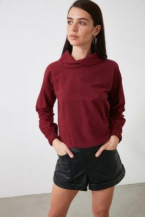 TRENDYOLMİLLA Bordo Yaka Detaylı Bluz TWOAW21BZ1509