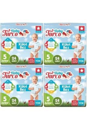 Baby Turco Külot Bebek Bezi Jumbo Beden:5 (12-25kg) Junior 96 Adet (4pk*24)