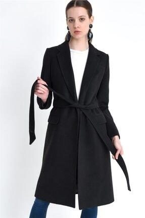 Dewberry Kadın Siyah  Palto Z6613
