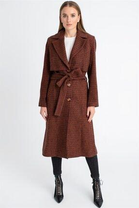 Dewberry Kadın Taba Palto Z6621
