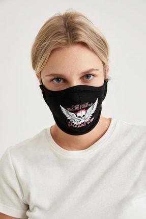 DeFacto Kuru Kafa Baskılı Yıkanabilir Maske