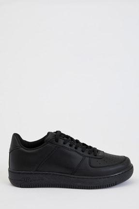 DeFacto Kadın White And Black Bağcıklı Sneaker Basic Ayakkabı S0808AZ20AU