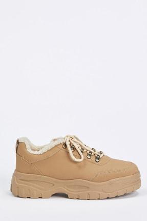 DeFacto Kadın D.Beıge Bağcıklı Ugly Sneaker Ayakkabı S0807AZ20AU