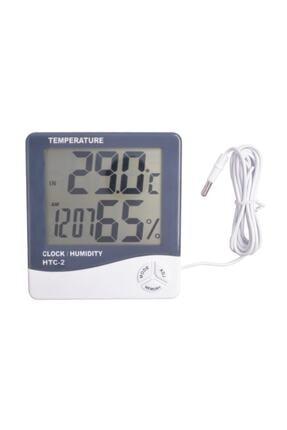 Techmaster Htc-2 Dijital Termometre Saat Alarm Nem Ölçer Dış Sıcaklık Ölçer