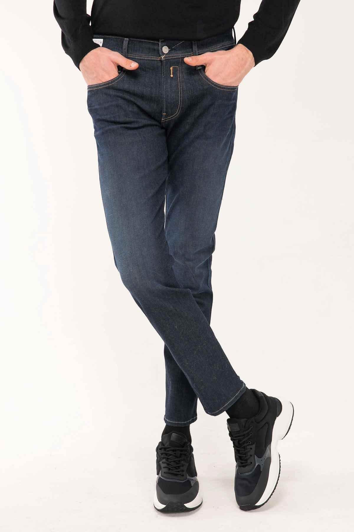 Replay Erkek Lacivert Hyperflex Re-used Slim Fit Anbass Jeans 1