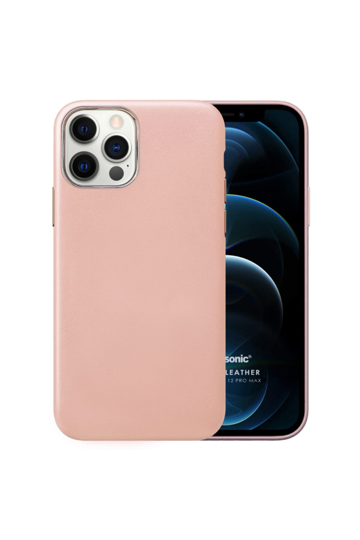Microsonic Apple Iphone 12 Pro Max Kılıf Luxury Leather Rose Gold 1