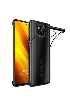 Microsonic Xiaomi Poco X3 Nfc Kılıf Skyfall Transparent Clear Siyah