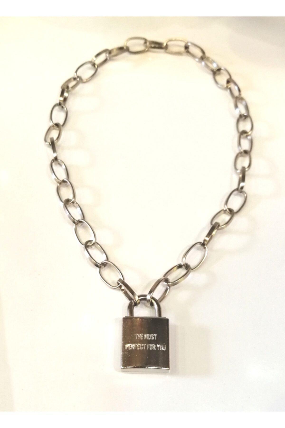 LapisButik Gümüş Anahtar Kilit Kolye 1