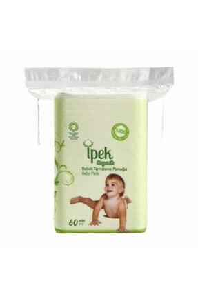 İpek Organik Bebek Temizleme Pamuğu - 60 Adetli - Pamuk
