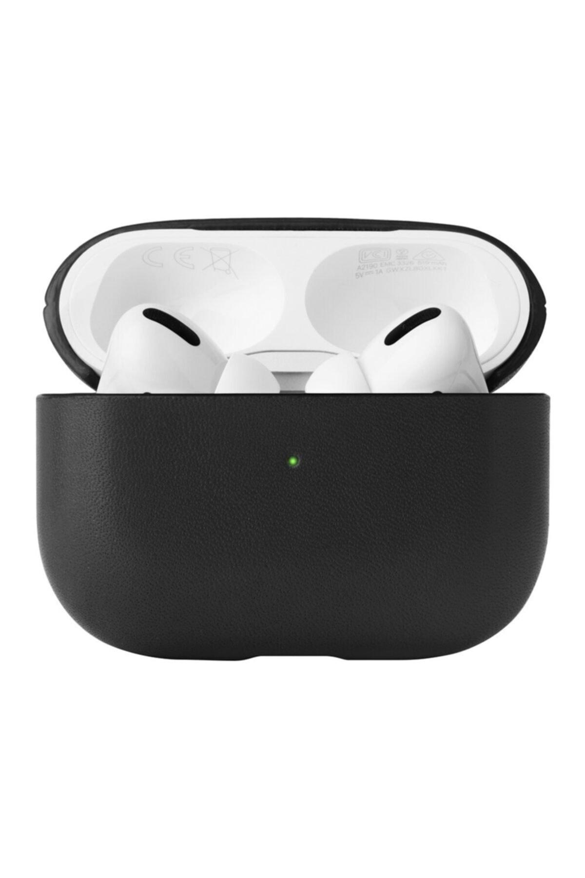 NewBlue Airpods Pro 360 Koruyucu Siyah Deri Kılıf 2