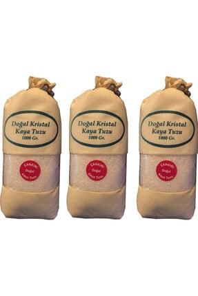 ÇANKIRI KAYA TUZU 3 Adet Çankırı Doğal Kristal Kaya Tuzu Iri Tane 1 kg