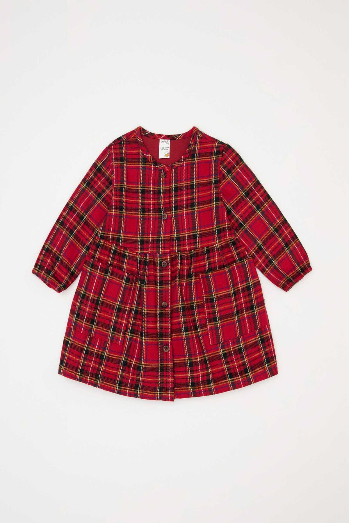 DeFacto Kız Bebek Kareli  Elbise 1