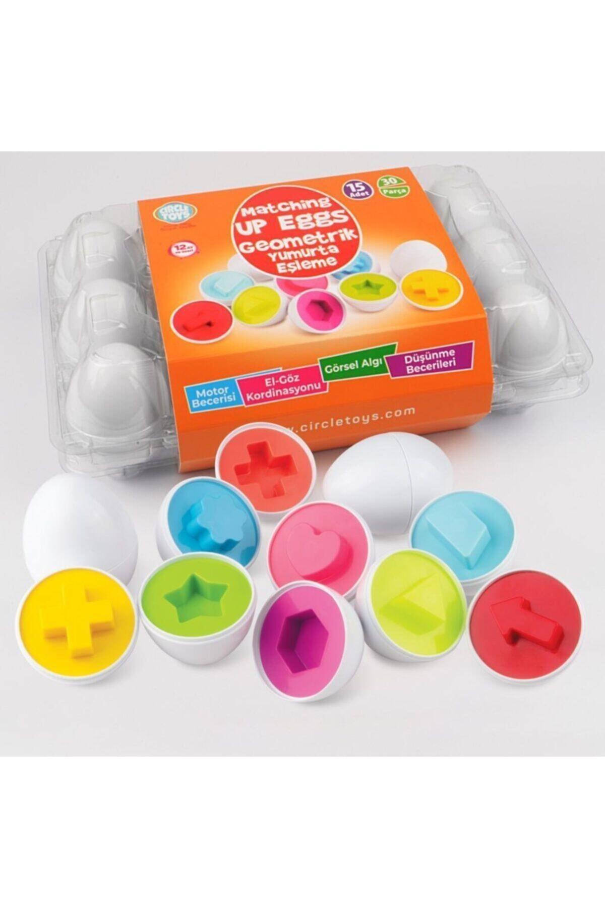 Circle Toys Geometrik Yumurta Eşleme 15 Li 1