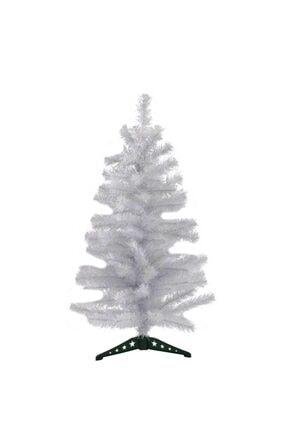 Kullan At Market Yılbaşı Lüks Beyaz Çam Ağacı 90cm 72 Dal Plastik Ayaklı 1 Adet