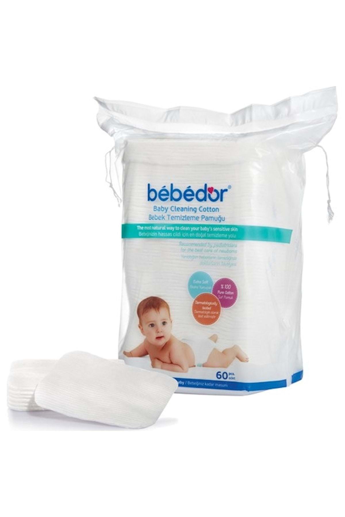 Bebedor Bebek Temizleme Pamuğu 60 Adet Tekli Paketi 1