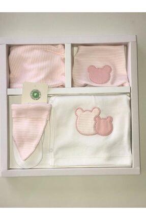 Ciccim Baby Kız Çocuk Bebek 5'li Yenidoğan Hastane Çıkış Seti