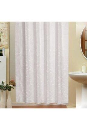 Evdy Beyaz Mermer Desen Çift Kanat Duş Perdesi 5026  2 x 100 x 200 cm