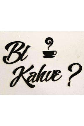 Miana Lazer Bi Kahve? 25x15cm Duvar Yazısı Ahşap Mutfak Yazıları Dekoratif Motto Yazılar