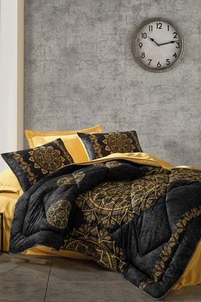Cotton Box Saten Çift Kişilik Uyku Seti Alvina Gold