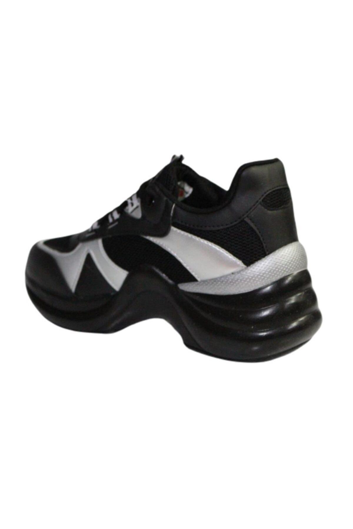 Twingo Kadın Siyah Gri Kalın Taban Yürüyüş Spor Ayakkabı 601 2