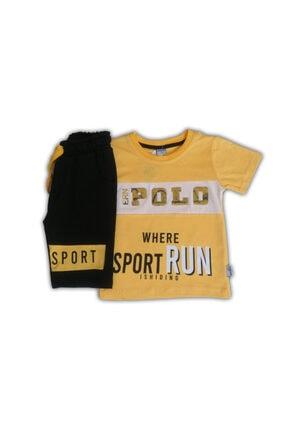 Babypolo Erkek Çocuk Sarı Polo Kaprili Eşofman Takımı