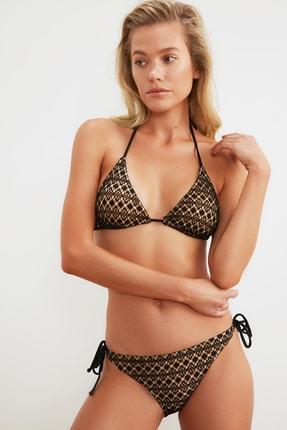 TRENDYOLMİLLA Siyah Dokulu Bikini Takımı TBESS21BT0013