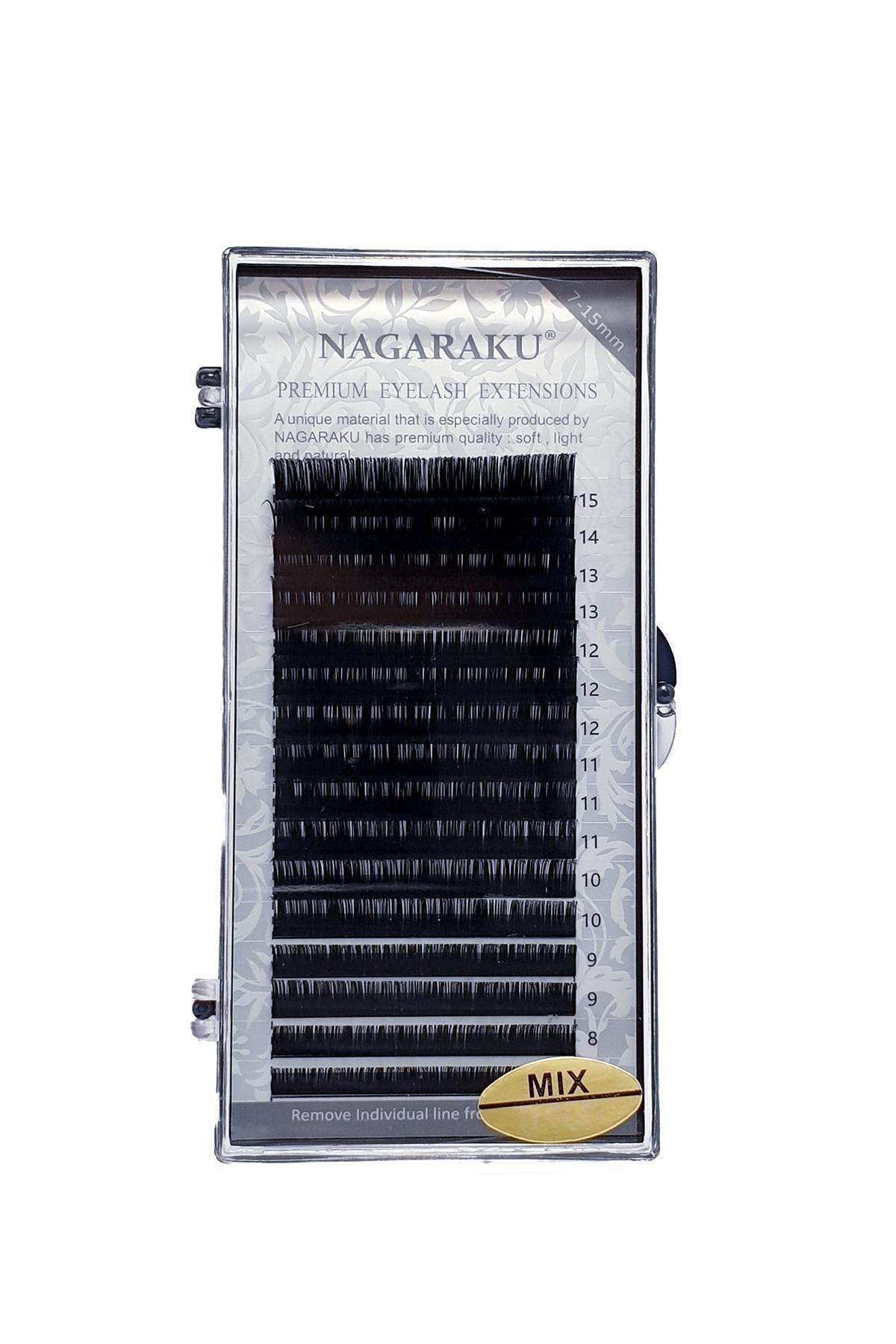NAGARAKU Ipek Kirpik 0,07 D Kıvrım Mix Uzunluk 2