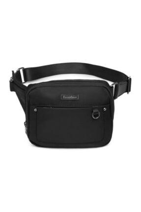 SMART BAGS Smar Bags Saten Kumaş Kadın Bel Çantası Siyah