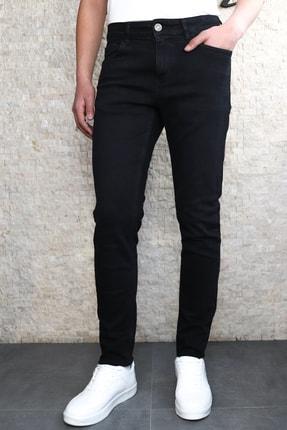Collezione Jeffrey Slim Fit Orta Siyah Kot Pantolon