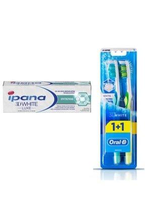 İpana 3d White Luxe Intense 75ml + Oralb 2'li 3d White Diş Fırçası Seti
