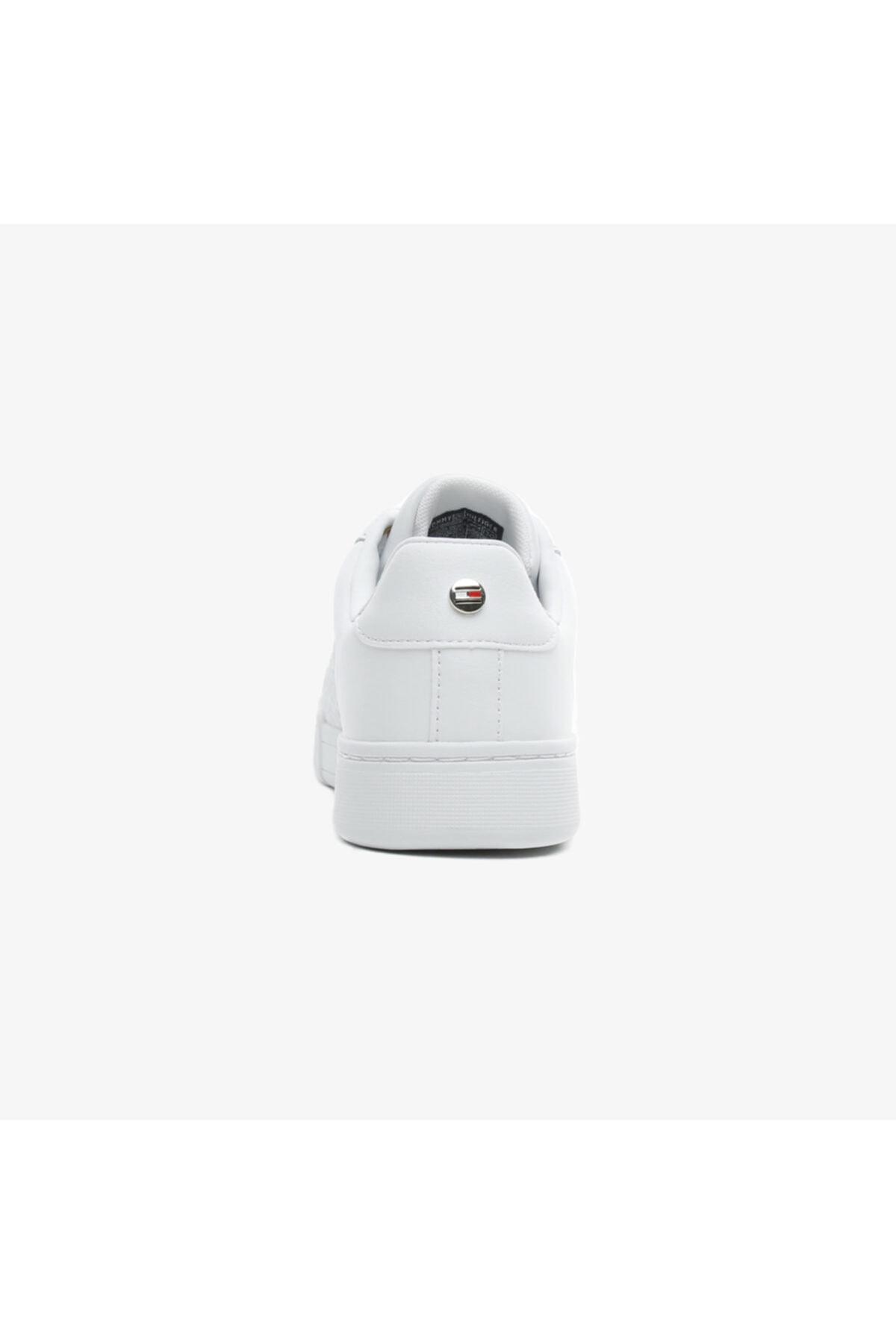 Tommy Hilfiger Kadın Beyaz Bağcıklı Spor Ayakkabı 2
